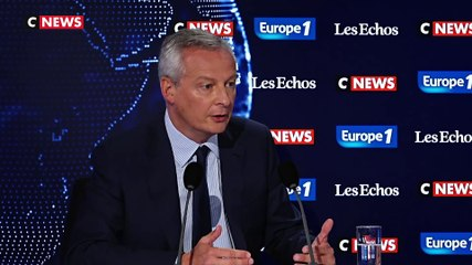 Bruno Le Maire - Europe 1 & CNews dimanche 1 septembre 2019