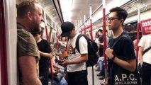 Khu vực Mong Kok ( Vượng Giác ), quận Yau Tsim Mong ( Du Tiêm Vượng ), Hong Kong tối 31/08/2019 (GMT+8): Trong ga MTR Prince Edward: Toàn cảnh vụ việc: The Westerners asked the Hong Kong police to be accused of being accused of indiscriminate video catchi