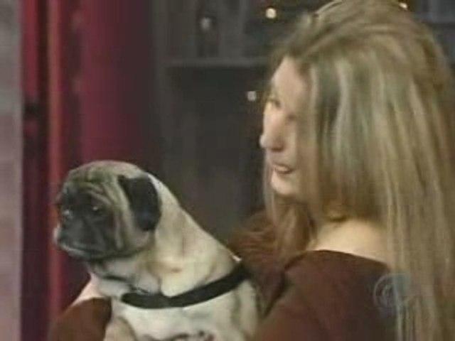 "Odie, le chien carlin qui dit ""I love you"" - David Letterman"