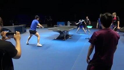 Mima Ito training with Fan Zhendong - T2 Diamond 2019