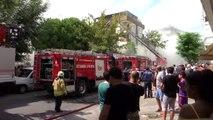 Maltepe'de iş yeri yangını