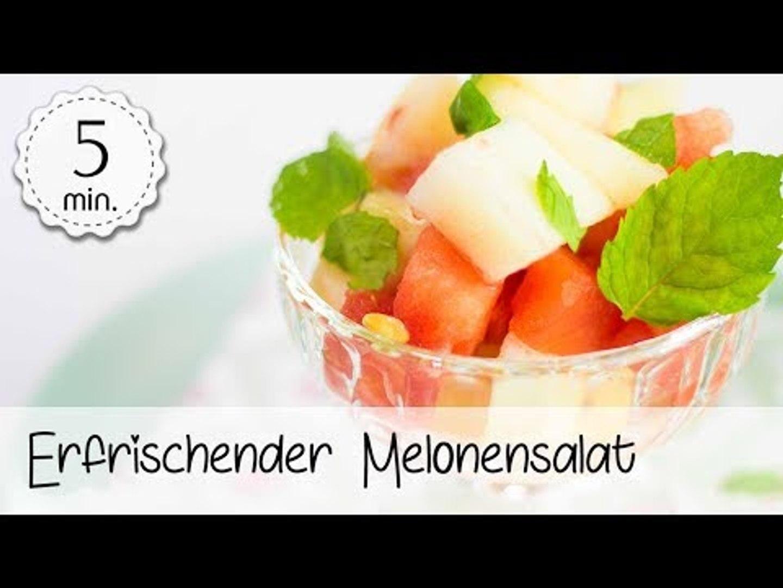 Veganer Melonensalat - Gesunder Melonensalat Vegan - Melonensalat Rezept Vegan | Vegane Rezepte
