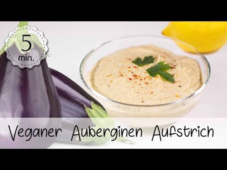 Veganer Auberginen Aufstrich Rezept - Gesunder Auberginen Dip Vegan - Aufstrich Vegan|Vegane Rezepte