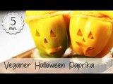 Veganer Halloween Paprika mit Polenta Füllung - Gefüllte Paprika Vegan ohne Tofu | Vegane Rezepte