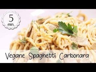 Vegane Spaghetti Carbonara Schnell und Einfach - Spaghetti Carbonara Vegan Rezept | Vegane Rezepte