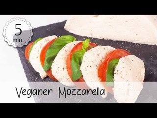 Veganer Mozzarella selber machen - Mozzarella Vegan Rezept mit Cashew & Flohsamen | Vegane Rezepte