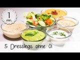 5 Dressings ohne Öl - Vegane Dressing Rezepte - Dressing ohne Öl Vegan!  | Vegane Rezepte