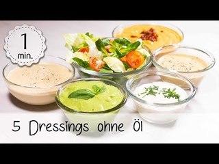 5 Dressings ohne Öl - Vegane Dressing Rezepte - Dressing ohne Öl Vegan!    Vegane Rezepte