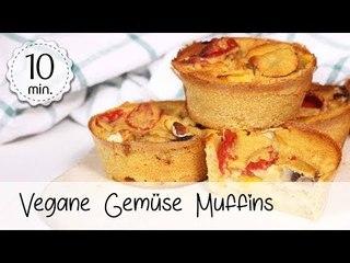 Gemüse Muffins Vegan - Vegane Gemüse Muffins ohne Zucker - Gesunde Pikante Muffins   Vegane Rezepte
