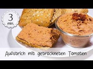 Veganer Aufstrich mit getrockneten Tomaten & Kichererbsen - Aufstrich Vegan Rezept   Vegane Rezepte