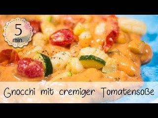 Vegane Gnocchi mit cremiger Tomatensoße - Gnocchi Rezept Vegan & Einfach!   Vegane Rezepte