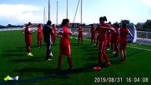 Les joueuses de l'Olympique Valence à l'échauffement