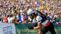 Martin Fourcade, roi du biathlon, fait le show à Annecy