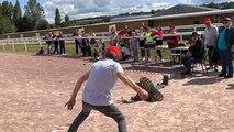 Lancer de bottes et montgolfière à la fête franco-britannique
