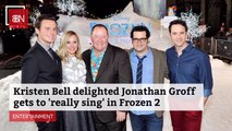 Kristen Bell Listens To Jonathan Groff Singing
