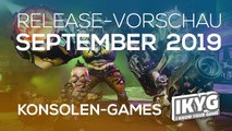 Games-Release-Vorschau - September  2019 - Konsole