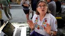 A Génolhac, une citoyenne informe sur le droit au référendum