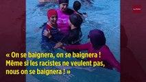 Paris : des militantes se baignent en burkini dans une piscine