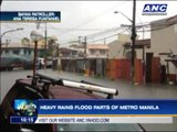 Heavy rains flood parts of Metro Manila