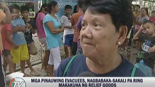 Some flood victims choose to stay at evacuation centers