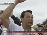 Ex-CJ Corona booed out of 'Million People March'