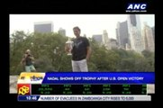 Nadal shows off trophy after U.S. Open victory