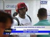 Derrick Rose wraps up Manila tour