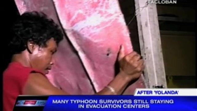 Many 'Yolanda' survivors still in evacuation centers