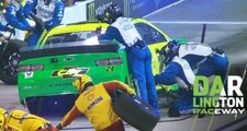 Pit stop costs Byron valuable track position