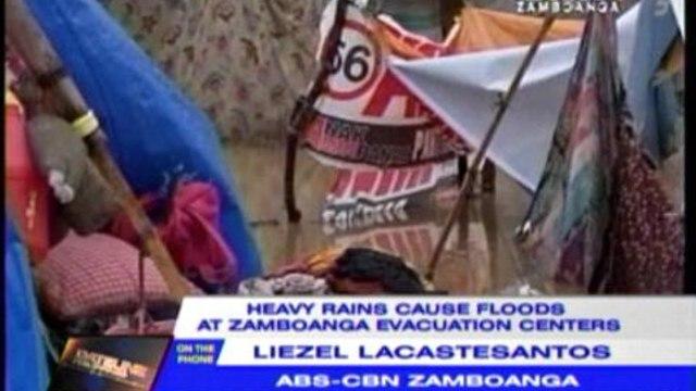 Heavy rains cause floods at Zambo evacuation centers