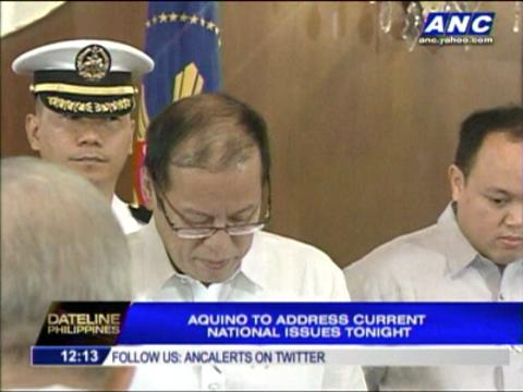 PNoy to address current national issues tonight