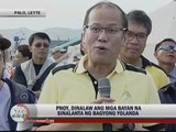 PNoy sees improvement in some Leyte towns