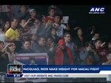 Pacquiao, Rios make weight ahead of Macau bout
