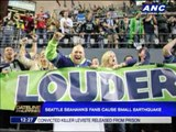 Seattle Seahawks fans cause small earthquake