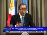 UN chief urges int'l community to speed up financial aid