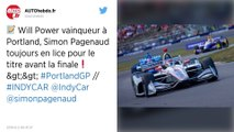 IndyCar : Will Power s'impose à Portland, Josef Newgarden se rapproche du titre