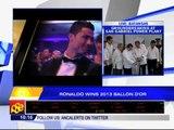 Ronaldo wins second Ballon d'Or
