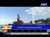 Olympic flame docks in Sochi