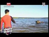 WATCH: Dyan Castillejo swims with carabao