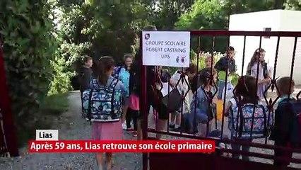 Après 59 ans, l'école primaire de Lias réouvre