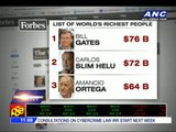 And the world's richest man is ...