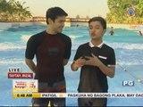 Atom Araullo tries surfing at Club Manila East