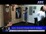 Pacquiao resumes training after nursing a cold