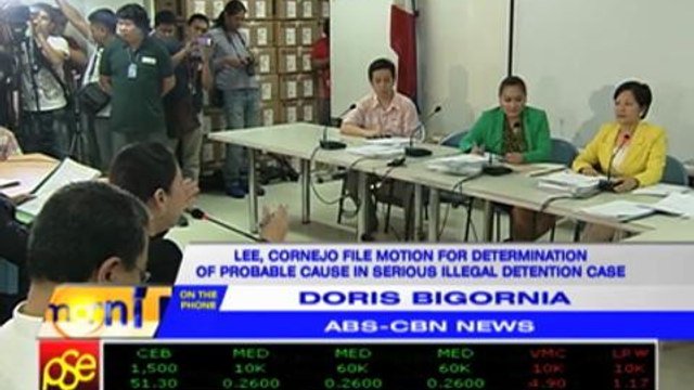 Lee, Cornejo file motion seeking probable cause in illegal detention case