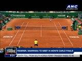 Federer, Wawrinka to meet in Monte Carlo finals