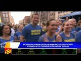 Boston marathon bombing survivors complete charity relay