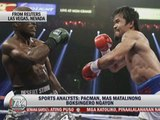 Analysts: Time for Pacquiao-Mayweather fight
