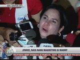 Jinkee tells Manny: Time to retire