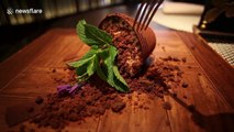 Russian cafe serves chocolate dessert that looks identical to a broken flower pot