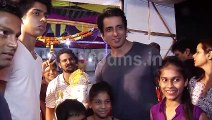 Bollywood Actor Sonu Sood Brings Ganesha to His Home